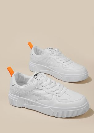 SPOT ON WHITE TRAINERS