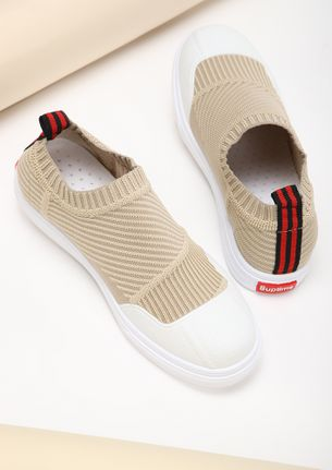 COMFY FEET BEIGE CASUAL SHOES