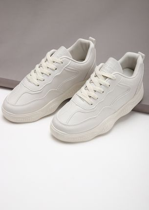 SPORTY AND SASSY BEIGE TRAINERS
