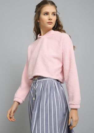 MY COMFIEST BEST PINK CROPPED SWEATSHIRT
