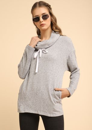 THE WAY YOU LIKE KNIT GREY JUMPER