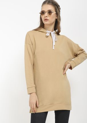 FIND ME COZY IN KHAKI JUMPER DRESS
