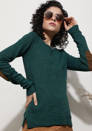 BEFORE THE CHILL COMES TEAL GREEN JUMPER