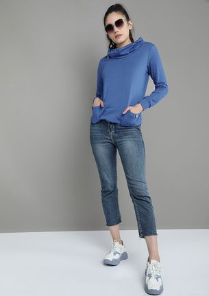 OUT FOR THE CHILL ELECTRIC BLUE SWEATSHIRT