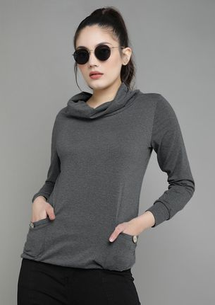 OUT FOR THE CHILL DARK GREY SWEATSHIRT