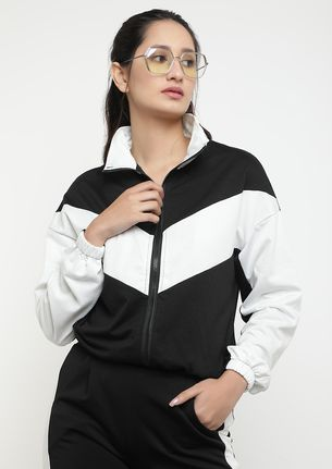 COOL FOR THE COLD BLACK WHITE BOMBER