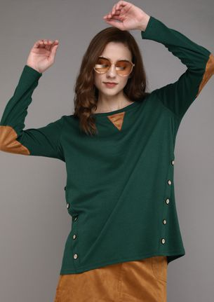 COMFORTABLY YOURS GREEN TOP