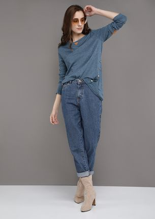 COMFORTABLY YOURS BLUE TOP