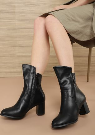 THAT UPTOWN GIRL BLACK ANKLE BOOTS
