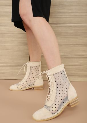 TAKE TWO APRICOT ANKLE BOOTS