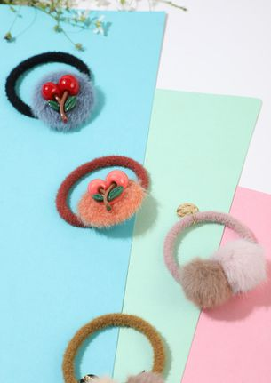 QUIRK UP MULTICOLOR SET OF FOUR SCRUNCHIES