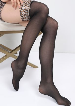 BEING BOLD AND WILD BLACK THIGH-HIGH STOCKINGS