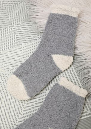 OOZE OUT WARMTH GREY SOCKS