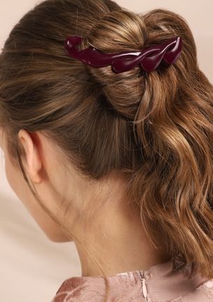 GOOD WAVES WINE RED HAIR CLIPS