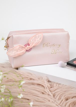 HOME FEELS HAPPY PINK MAKE-UP POUCH
