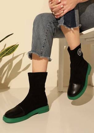 SIGNE ROYALE GREEN BOOTS