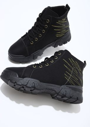 SNEAKER-BOOTS KINDA PERSON BLACK CASUAL SHOES