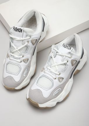 PUMPED UP KIDS WHITE TRAINERS