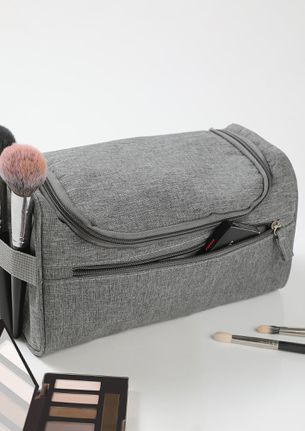 NEVER GO WRONG GREY MAKE-UP POUCH