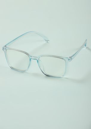 THE CLEAR PICTURE BLUE SQUARE SUNGLASSES