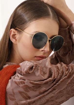 LOVE NOTES GOLDEN ROUND SUNGLASSES