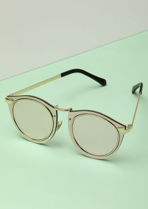 RAISE A BAR GOLDEN CATEYE SUNGLASSES