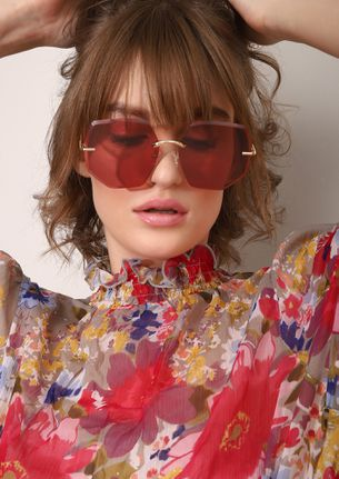 SKY IS RED RETRO SUNGLASSES
