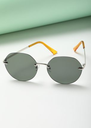 IN THE HOOD GREY ROUND SUNGLASSES