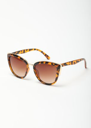CAN'T MISS AMBER CATEYE SUNGLASSES