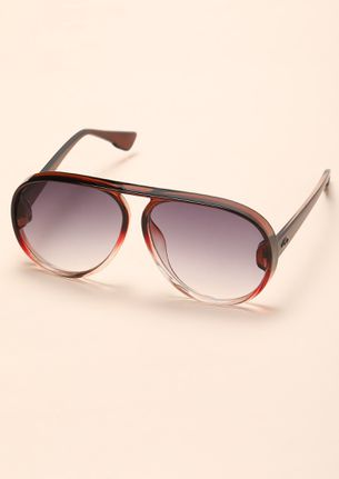 BRINGING IT BACK DARK WINE RETRO SUNGLASSES
