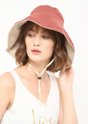 GOTTA BE BACK TO TAUPE PINK BUCKET HAT