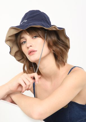 HAPPY ON ANY DAY BLUE BUCKET HAT