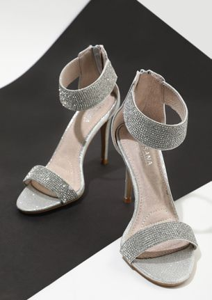 DROPPING SASS WITH EVERY STEP SILVER HEELED SANDALS