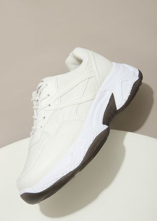 THE REAL GODSPEED CREAM WHITE TRAINERS