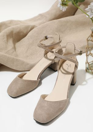 TAKE ME TO PARADISE BEIGE HEELED SANDALS
