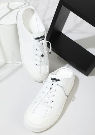 THE COMFY SPORTY WHITE MULE SNEAKERS