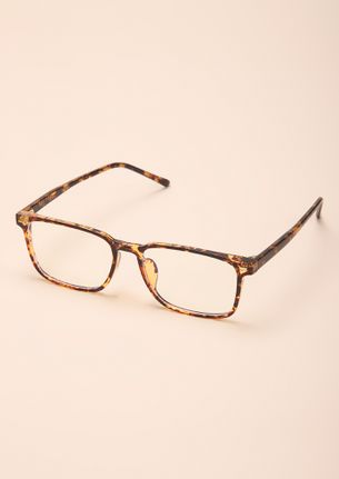 UNLEASH THE BEAST WITHIN AMBER SQUARE FRAME SUNGLASSES