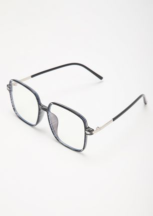 STEER CLEAR GREY SQUARE FRAME SUNGLASSES