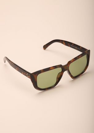 PRINT IS IN PLAY AMBER SQUARE FRAME SUNGLASSES