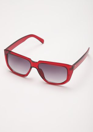PRINT IS IN PLAY WINE SQUARE FRAME SUNGLASSES