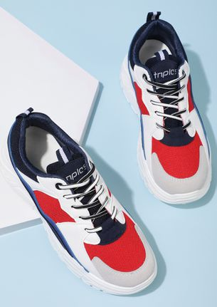 MAKE A BREAK FOR IT BLUE TRAINERS