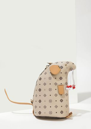 CRESCENT ON THE RISE BEIGE POUCH SLING