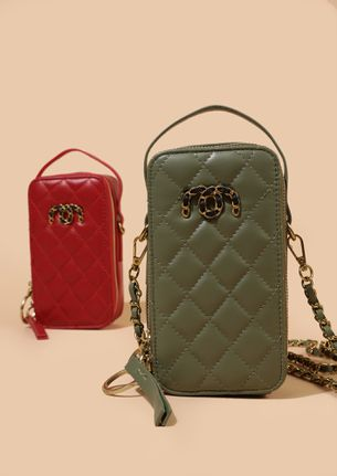 CAN'T TAKE MY EYES OFF GREEN SLING BAG