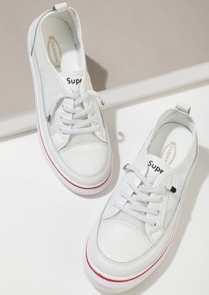 SCHOOL TIME MEMORIES WHITE TRAINERS