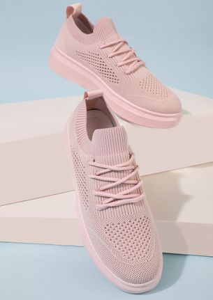 NEVER OUTTA SOCKS PINK TRAINERS