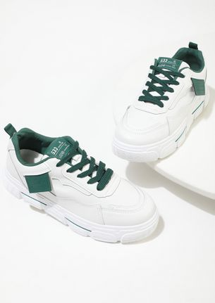 HAPPY FEET ON THE STREET GREEN TRAINERS