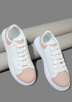 LET'S RUN OFF PINK WHITE TRAINERS