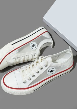 BACK TO SCHOOL GIRLS WHITE CONVERSE SNEAKERS