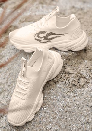 WANDERERS MUST HAVE BEIGE TRAINERS