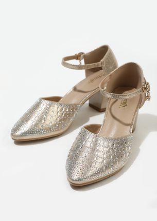 SUMPTUOUSLY YOURS GOLD PUMPS